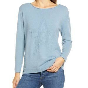 WIT & WISDOM CABLE KNIT STAR SWEATER NWT